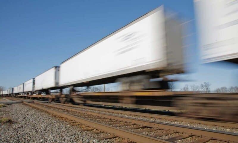 Intermodal Freight Transport - Trailer on Flat Car Shipping