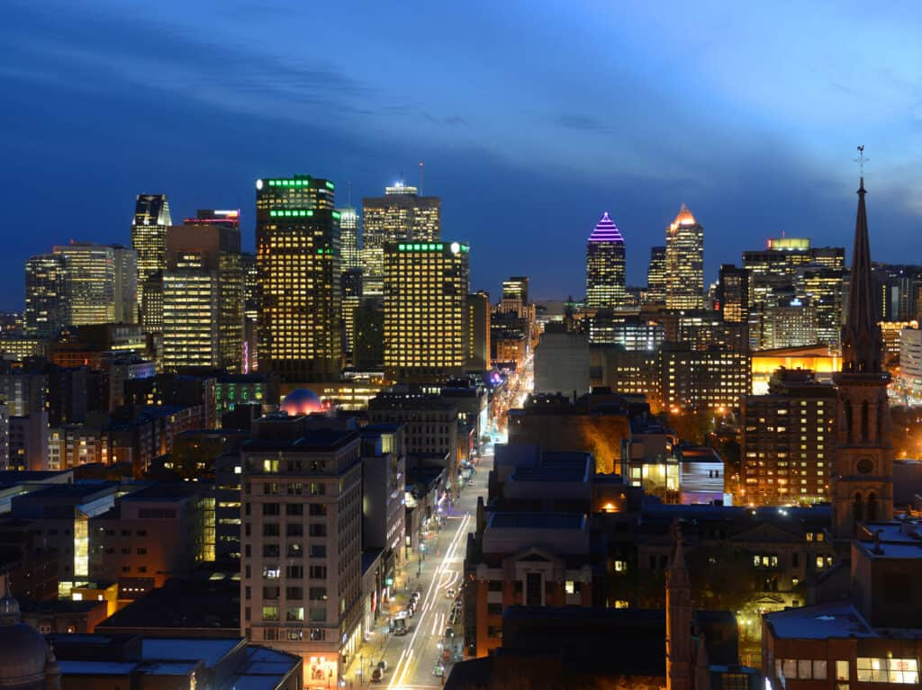 Freight Shipping to Canada Quebec Montreal Skyline