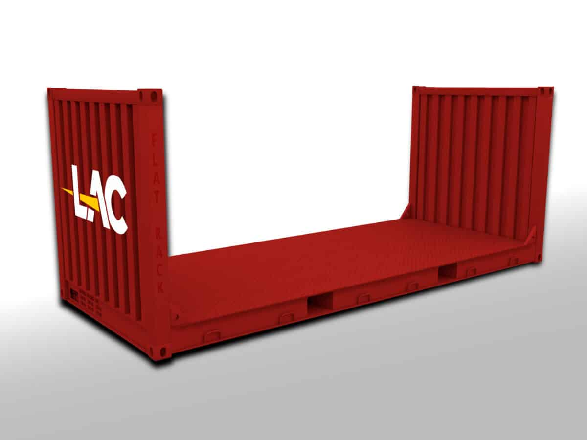 20 Ft Flat Rack Container Size