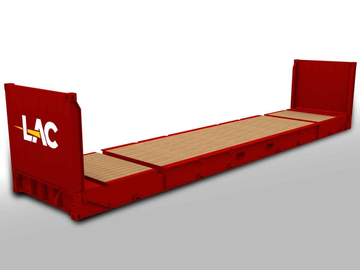 40 Ft Flat Rack Container Size