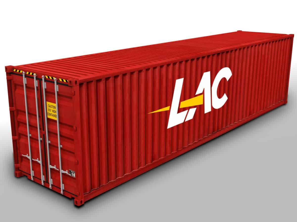 40 Ft HC High Cube Shipping Container Size