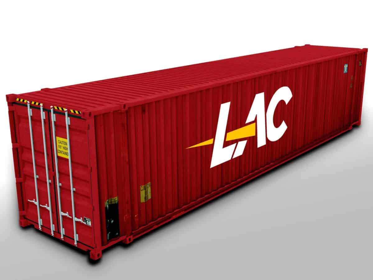 45 Ft HC High Cube Shipping Container Size