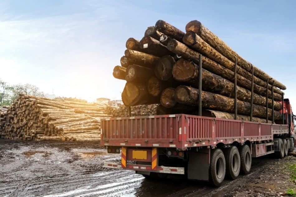 Agricultural wood transport vehicle