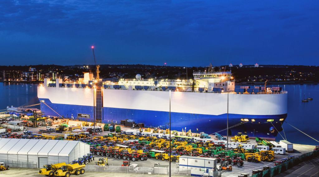 heavy equipment RORO shipping